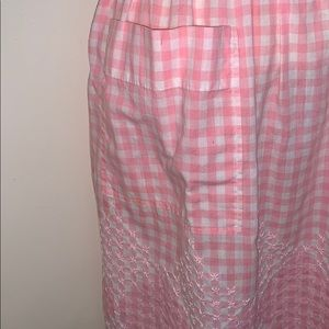 Vintage Other - Vintage pink & white checked apron